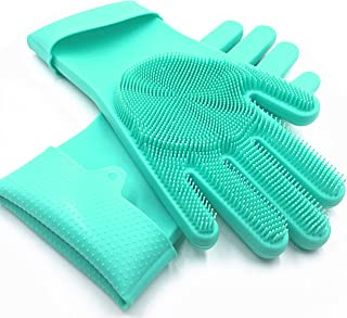 Sponsored Ad - SolidScrub | Magic Silicone Gloves Scrubbing Gloves for dishes, dishwashing gloves with scrubbers, dish glo...