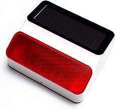 Anti-diefstal zonne-sirene voor buiten met 100 dB geluid | Draadloos met 2200 mAh-batterij - Geldig voor gebruik als auton...