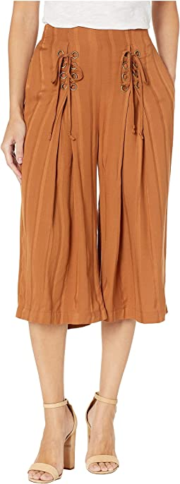 Lace-Up Culotte Pants