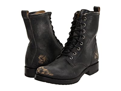 Frye Veronica Combat (Black Stone Wash) Women