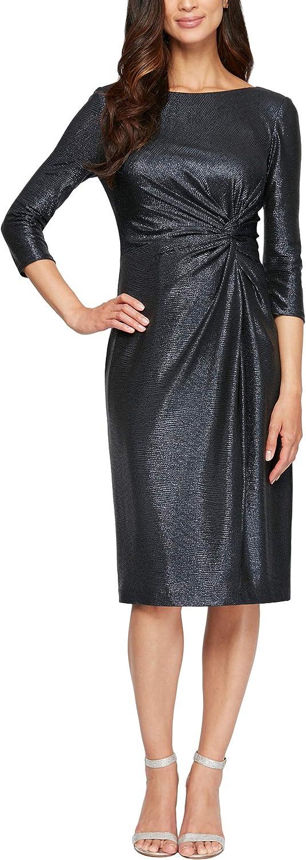 Alex Evenings Women's Short Twist Front Dress