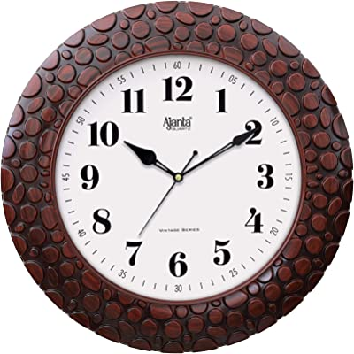 Ajanta Quartz 14 Inch Vintage Plastic Wall Clock for Home and Offices