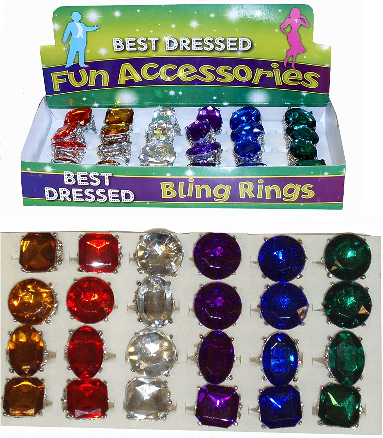 Fancy Max 48% OFF Dress Pimp King Ring Queen Over item handling Jewelled Large