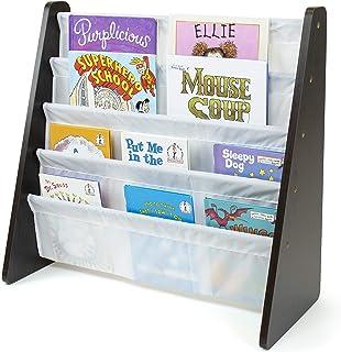 Tot Tutors Kids Book Rack Storage Bookshelf, Espresso/White (Espresso Collection)