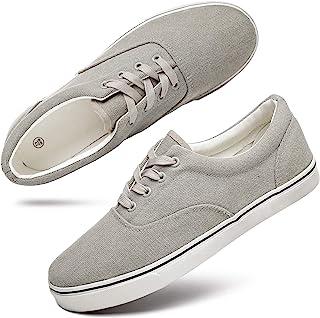Men's Low Top Canvas Walking Shoes Lace-up Fashion...