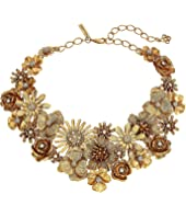 Oscar de la Renta - Large Gilded Floral Necklace