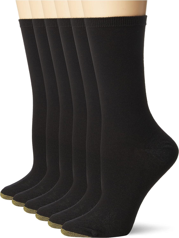 Gold Toe Women's Casual Texture Crew Socks, 6-Pairs