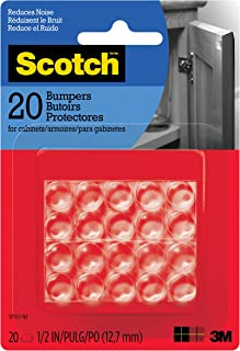 Scotch Bumpers, 20 Bumpers/Pack, Clear, 1/2
