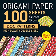 Origami Paper 100 sheets Dog Patterns: 6 inches (15 cm)