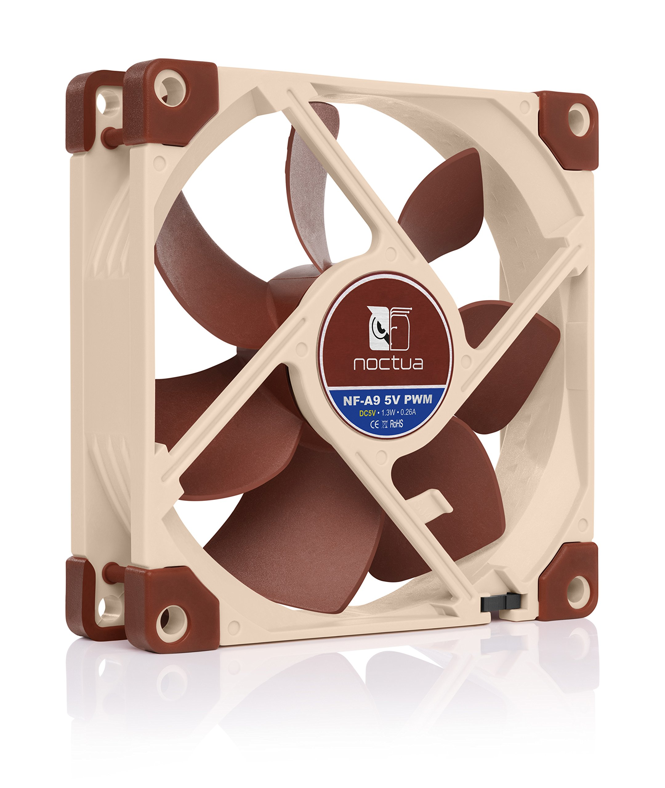5V Version 92mm, Brown Noctua NF-A9 5V Premium Quiet Fan with USB Power Adaptor Cable 3-Pin
