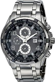 August Steiner Men's Grey Dial Metal Band Multifunction Watch - AS8127BK
