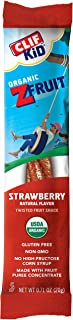 Clif KID ZFRUIT - Organic Fruit Rope – Strawberry Flavor - Gluten Free - Organic - Non-GMO - Lunch Box Snacks (1.27 Ounce ...