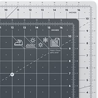 Arteza Base de corte autorreparable para cuchilla circular | Alfombrilla de doble cara para costura | Plancha de corte para medir en pulgadas | Tamaño 12x18
