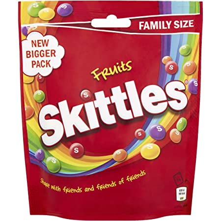 Skittles Sweets, Fruit Chewy Sweets, Family Size Pouch, 196 g