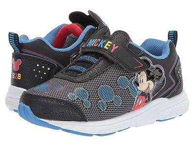 Josmo Kids Mickey Sneaker (Toddler/Little Kid) (Grey/Black) Boy