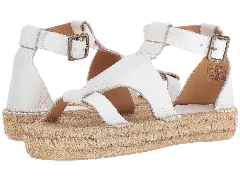 Soludos Banded Shield Sandal (White) Women