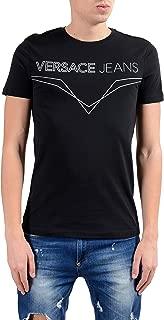 Men's Black Graphic Short Sleeve Crewneck T-Shirt Sz US M IT 50