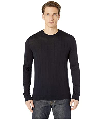 Emporio Armani Dropstitch Crew Sweater (Navy) Men