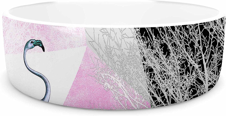 KESS InHouse Pia Schneider FLAMINGO P22  Pink Geometric Pet Bowl, 7