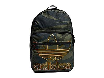 adidas Originals Originals Trefoil Pocket Backpack (Adi Camo/Signal Orange) Backpack Bags