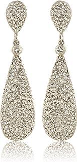 Moonstruck Costume Jewelry Chandelier Diamond Studded Drop and Dangle Earrings for Women