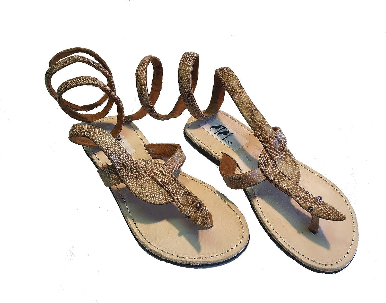 SISI mbili Women's Sandals flip Flops Kenya Original Snake Snake Sand Unique Handmade Pieces