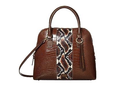 Frances Valentine Rachel Satchel (Natural/Brown) Handbags