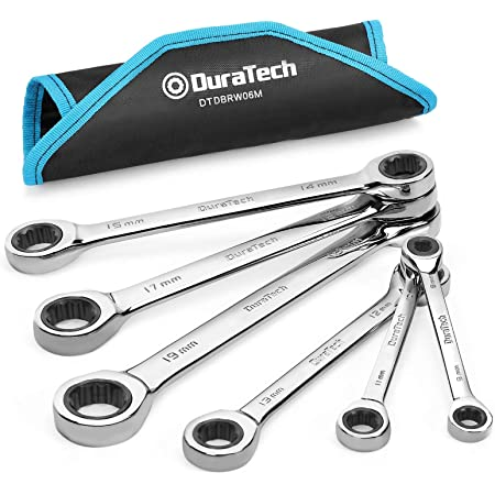 with Carrying Bag Metric GEARDRIVE Ratcheting Combination Wrench Set 10-piece 6-18mm Chrome Vanadium Steel