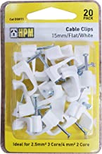 HPM DQ011 15mm White Cable Clips Accessory - Cable clips Flat type Pack of 20 15mm white