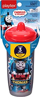 Playtex Sipsters Stage 3 Thomas the Train Spill-Proof, Leak-Proof, Break-Proof Insulated Spout Sippy Cups - 9 Ounce - 1 Co...