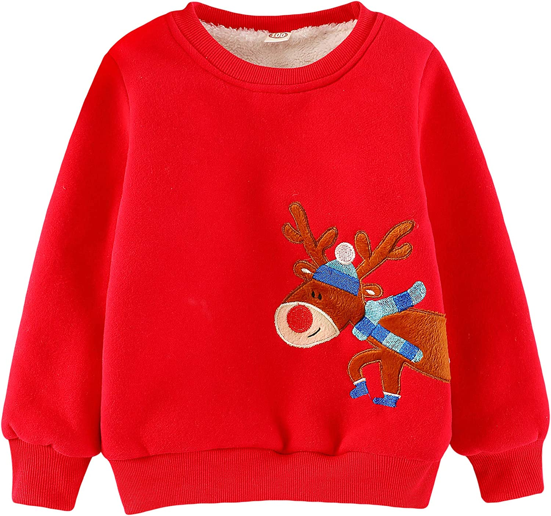 Little Hand Kinder Weihnachtspullover Sweatshirt Jungen Langarm Tops Fleece Winter Pullover Kleinkind T-Shirt Kleidung Alter 1 2 3 4 5 6 7 Jahre