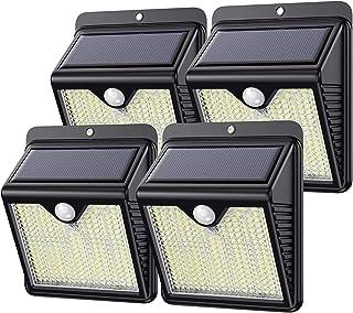 Lampe Solaire Exterieur, Kilponen 250LED éclairage Solaire Extérieur avec Détecteur de Mouvement étanche Applique Murale S...