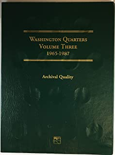 1965 Hard Cover 1965-1987 Washington Quarters Coin Album Empty LCF14 by Littleton Custom Coin Folder