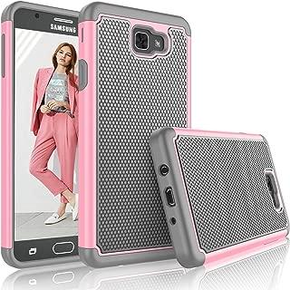 Tekcoo for Galaxy J7 Sky Pro Case/for Galaxy J7 V/J7V/J7 Perx Case for Girls, [Tmajor] Shock Absorbing [Baby Pink] Rubber Plastic Scratch Resistant Defender Hard Cover Cases for Samsung J7 2017