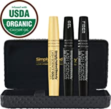 3D Fiber Lash Mascara with Growth Enhancing Serum by Simply Naked Beauty. Castor Oil Lash Growth and Mascara In One. Organic & hypoallergenic ingredients. Waterproof, smudge proof & voluminous.