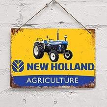 Blechschild 20,3 x 30,5 cm Traktor Bauernhof Vintage Blechschild SIGNCHAT Blechschild New Holland Landwirtschaft
