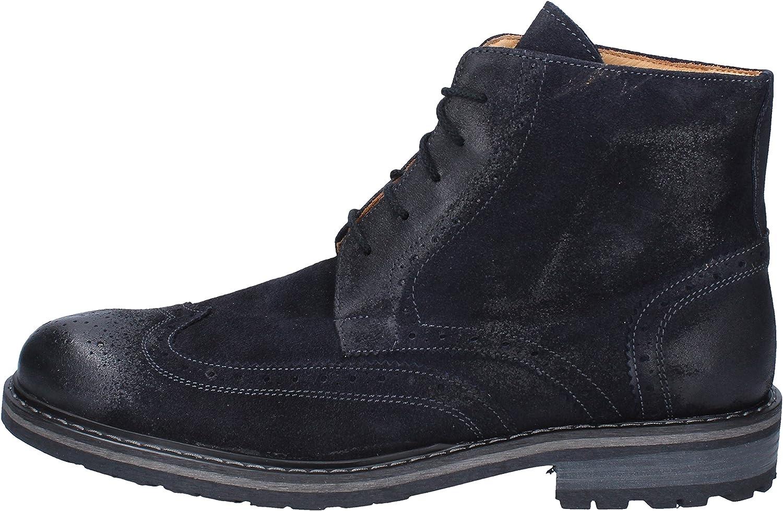 BRUNO VERRI Boots Mens Suede bluee