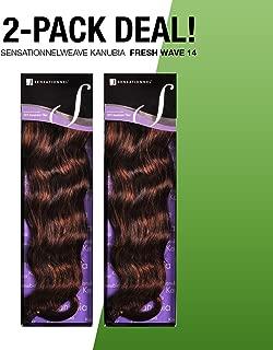 2-PACK DEALS ! Synthetic Hair Weave Sensationnel Kanubia Fresh Wave 14 (350)