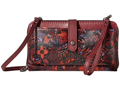 Sakroots Artist Circle Large Smartphone Crossbody (Cabernet Spirit Desert) Clutch Handbags