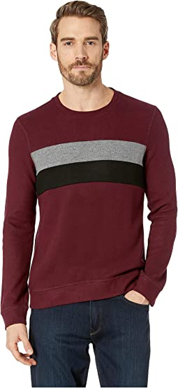 Comfort Knit Sweatshirt Crew Neck Blocking