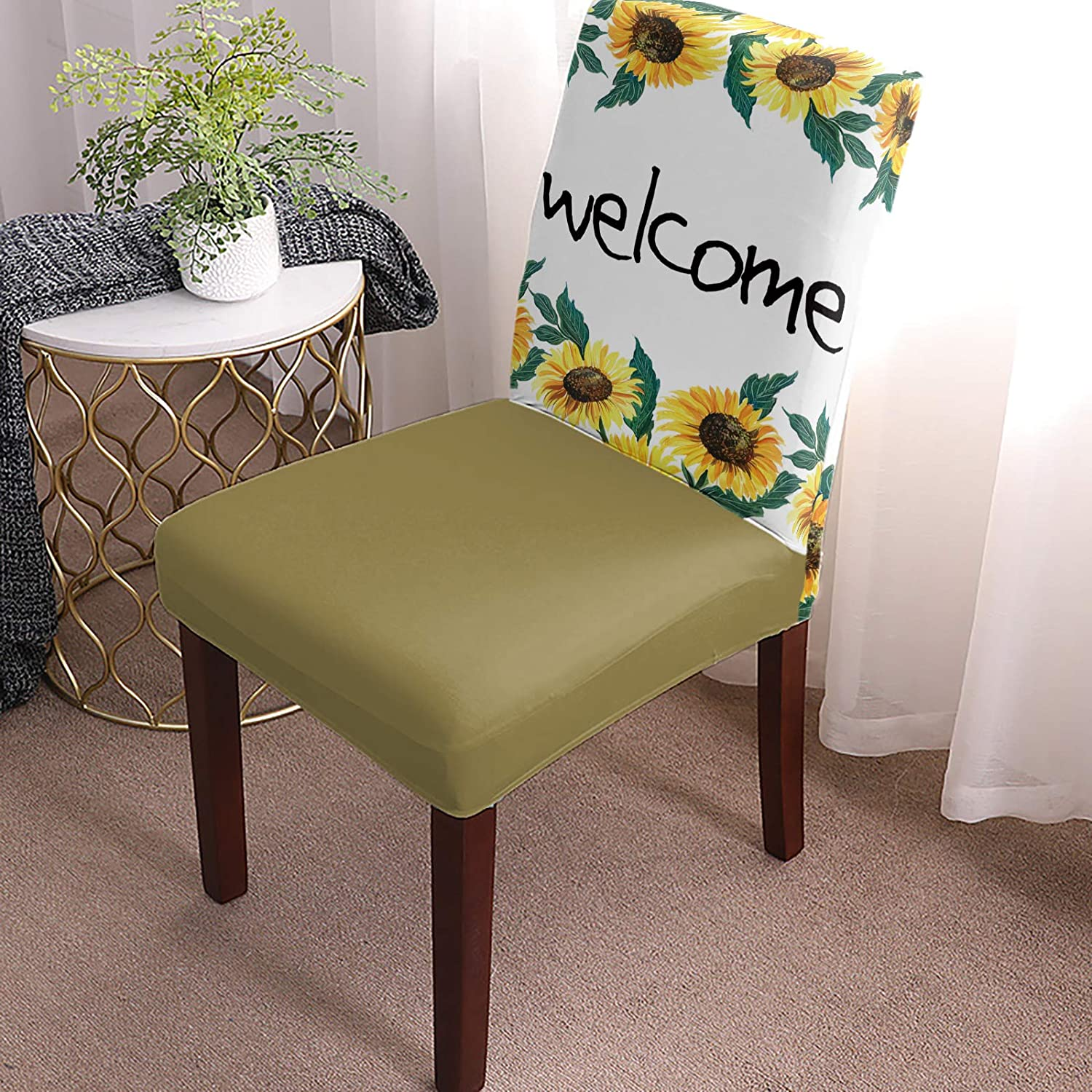 Jacksonville Mall Dining Chair Covers Slipcovers Set of Welcome 8 Fresh Save money Summer Sun