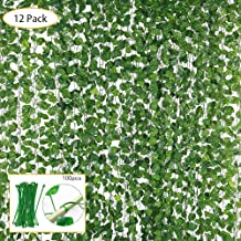 12pcs Kunstpflanzen Künstliche Blätter Efeu Hängend Pflanzen Garten Wanddekor