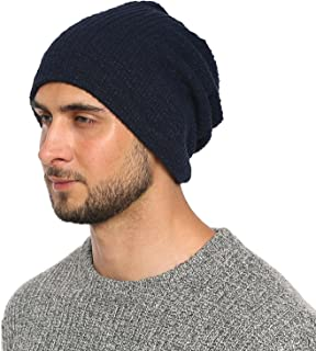 Hisshe Unisex Jersey Slouch Beanie sottile Summer Skullcap 9A-Blu
