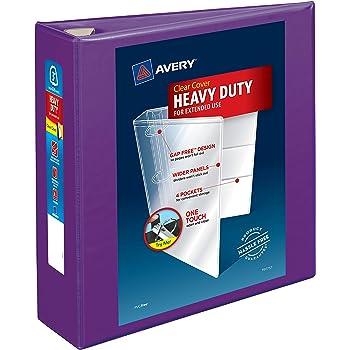 "3/"" Binder Capacity Letter Avery; DuraHinge Slant D-ring Durable Binder 8"