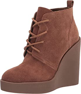 Jessica Simpson Women's Mesila Wedge Bootie Ankle Boot, Tobacco, 10