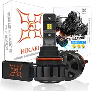 HIKARI Ultra LED Headlight Bulbs Conversion Kit -9007/HB5, Prime LED 12000lm 6K Cool White