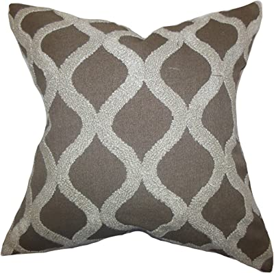 The Pillow Collection Ulei Geometric Throw Pillow Cover