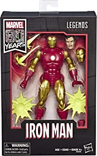 "Marvel Comics 80th Anniversary Legends Series 6""-Scale Vintage Comic-Inspired Iron Man"