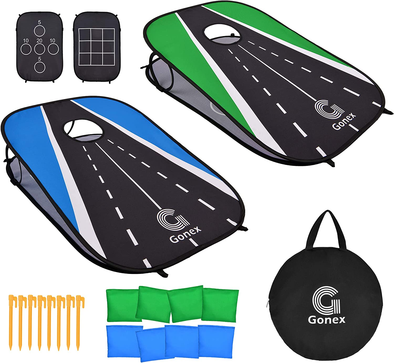 Gonex Collapsible Cornhole Set - Portable Max 57% OFF Hole Corn Boards with 35% OFF