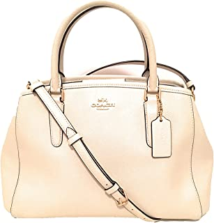 COACH F57527 SMALL MARGOT CARRYALL IN CROSSGRAIN LEATHER CHALK